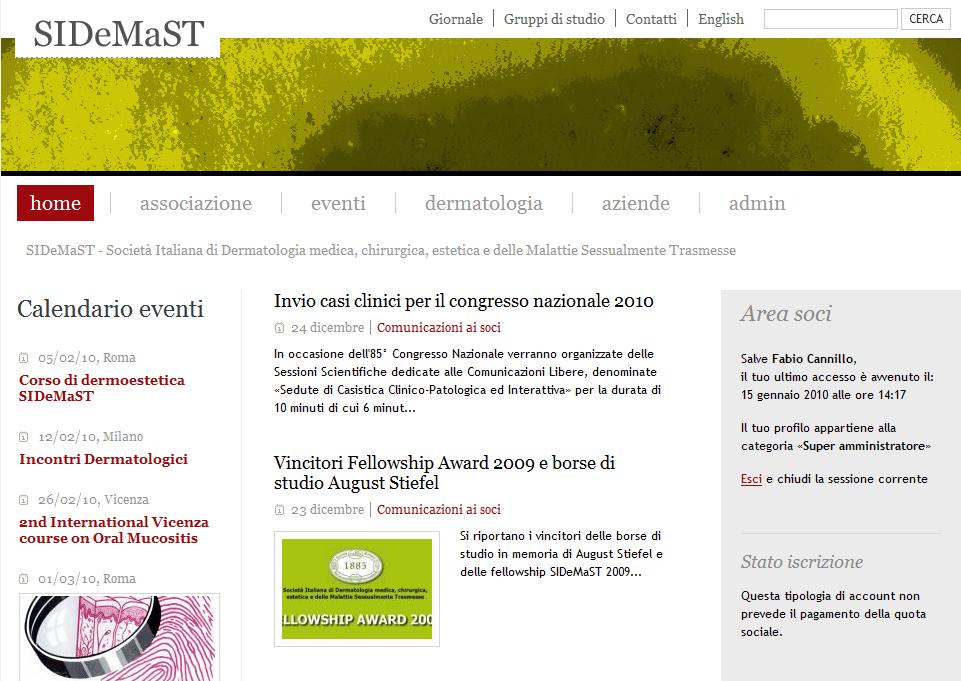 Pubblicato il nuovo sito SIDeMaST