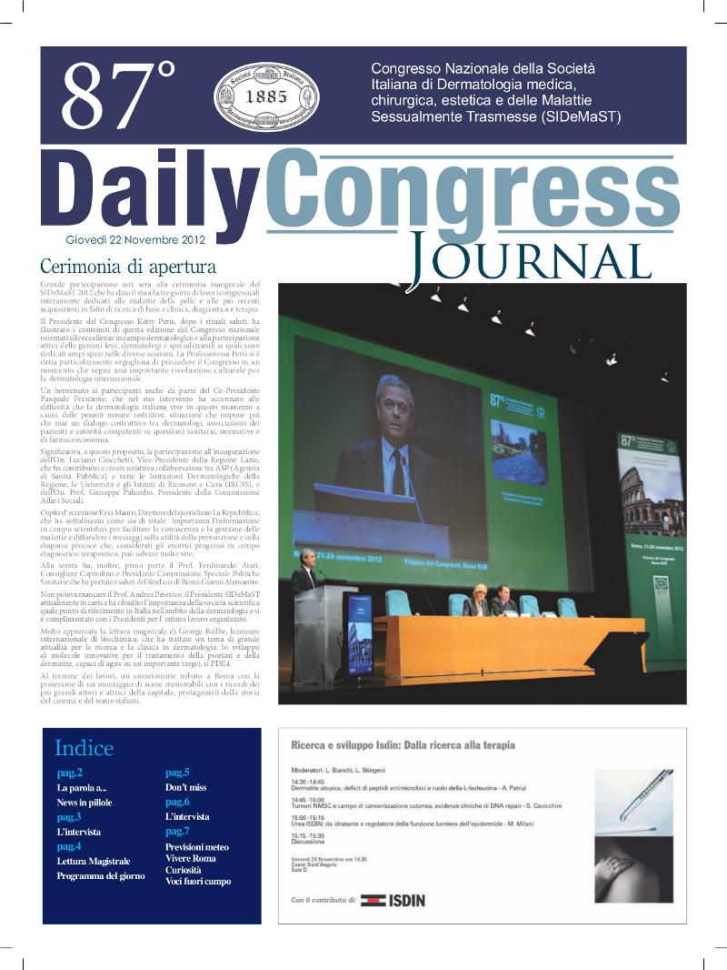 87° Congresso SIDeMaST: giornalino congressuale - numero 1