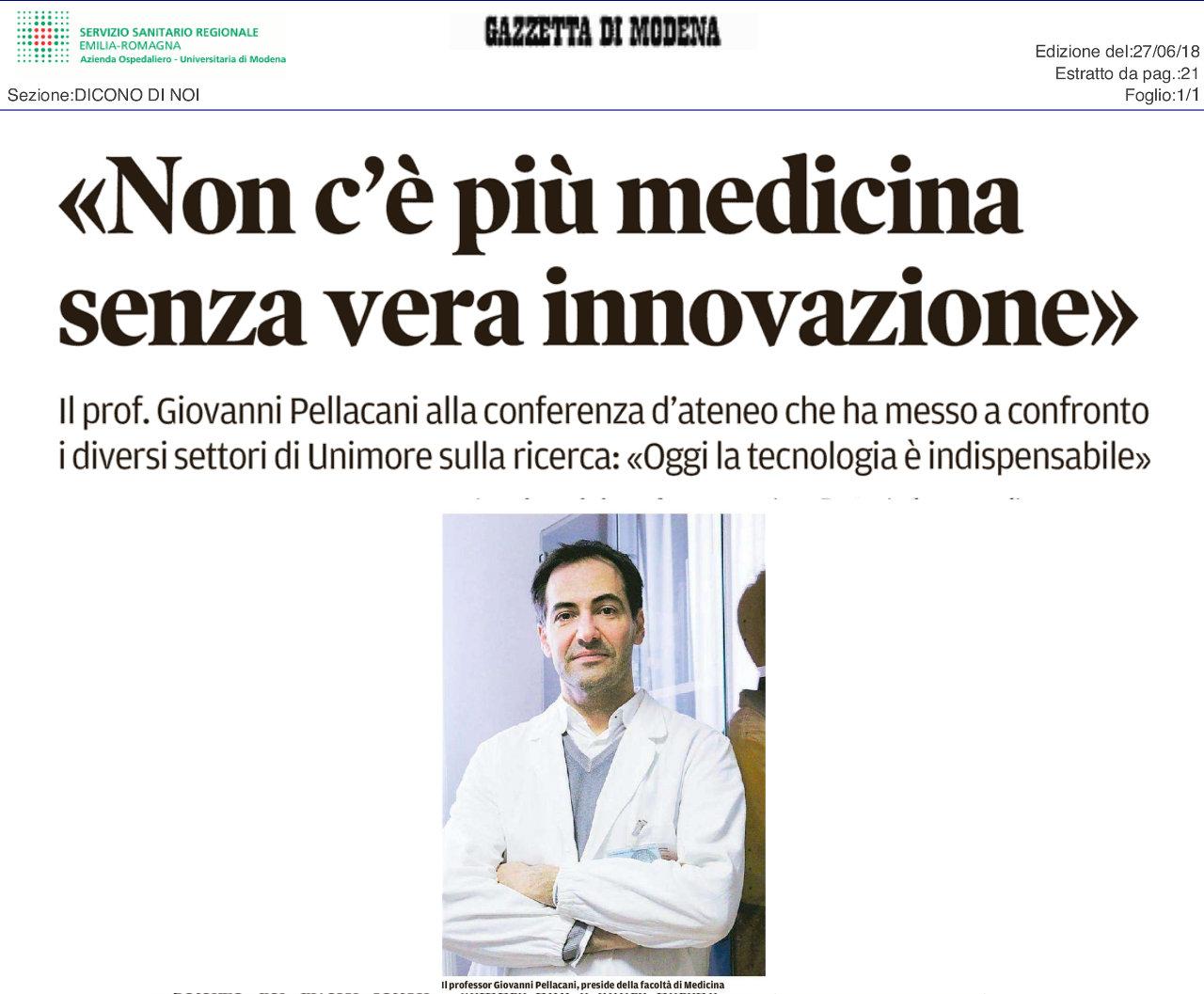Non c'è più medicina senza vera innovazione
