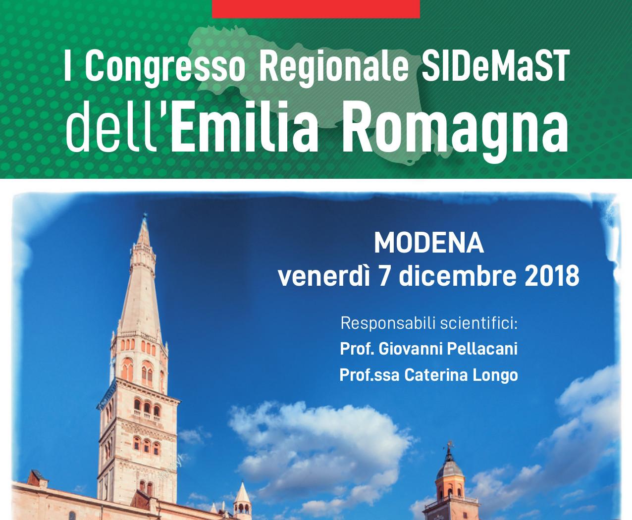I Congresso Regionale SIDeMaST dell'Emilia Romagna